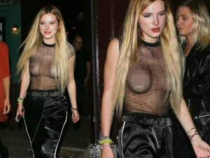 Actress Bella Thorne Shows Off Her Assets Sheer Top