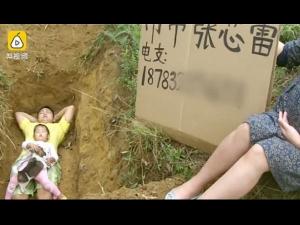 Father Prepares Ill Daughter Death Digs Her Future Grave