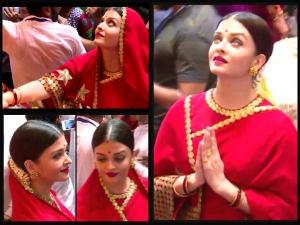 Ganesh Chaturthi 2017 Aishwarya Rai Bachchan Visits Lalbaug