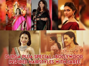 Durga Puja Special Bollywood Inspired Hairstyles With Sare