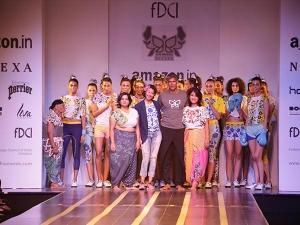 Amazon India Fashion Week Milind Soman Walked The Ramp With The Aged