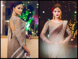 Urvashi Rautela Wear Rs 55 Lakh Saree Cousin Wedding