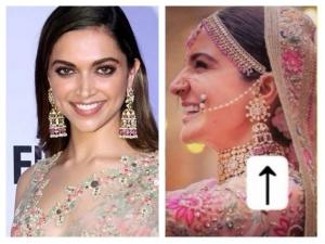 Did Deepika Padukone Wear Anushka Sharma S Wedding Earrings Before Her