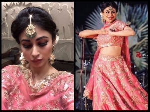 Mouni Roy S Amazing Look At Aashka Goradia S Wedding