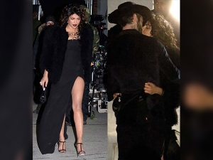 Hot Damn Priyanka Chopra Flashes The Flesh Daring Black Dress