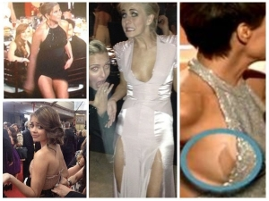 Major Wardrobe Malfunctions At Golden Globe Awards