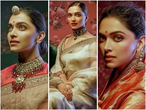 Deepika Padukone Looks In Royal In Sabhyasachi Mukherjee Outfits