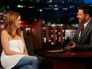 Jenna Fischer Wore Towel On Jimmy Kimmel Live