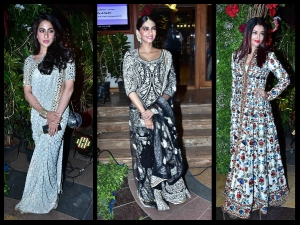 Sara Khan Sonam Kapoor Bachchans Turn Heads At Saudamini Mattu Reception