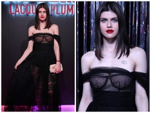 Baywatch S Alexandra Daddario Goes Braless Completely Invisible Top