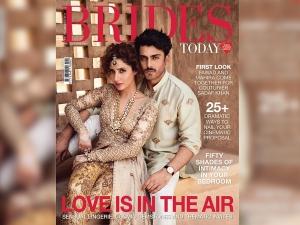Fawad Khan Mahira Khan Sizzle Up Magazine Cover Bridal Wear