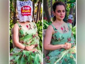 Kangana Green Sari Is Bang On On This World Environment Day