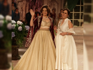 India Couture Week 2018 Kangana Ranaut Sashayed Down The Ramp As Victorian Bride