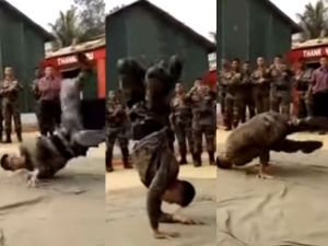 Video An Army Man Dancing On Aloo Chatt Song Is Going Viral