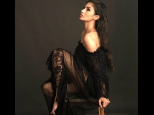 Gold Actress Mouni Roy Slays Black Sheer Outfit As She Poses For Photoshoot