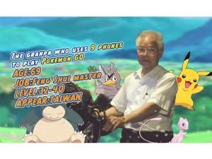Grandpa Who Plays Pokemon Go With 11 Phones