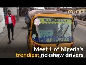 The Best Dressed Rickshaw Taxi Driver In Nigeria