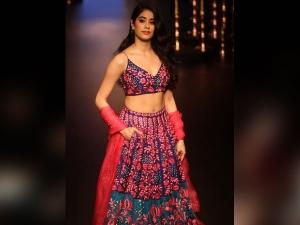 Jhanvi Kapoor Walks The Ramp Lakme Fashion Week The First Time