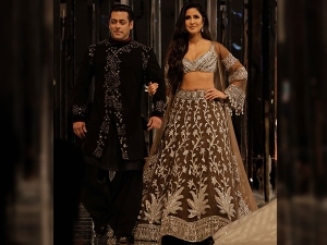 Salman Khan Katrina Kaif Walked The Ramp Manish Malhotra