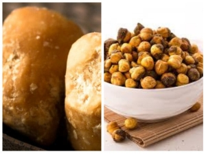 Health Benefits Gur Roasted Chana