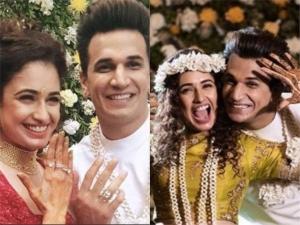Yuvika Chaudhary Looks Stunning Her Mehendi Engagement Ceremony