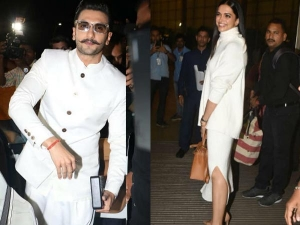 Deepika Ranveer Twinning White Leave Their Wedding