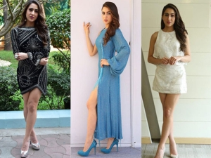 Stunning Looks Sara Ali Khan From Simmba Promotions