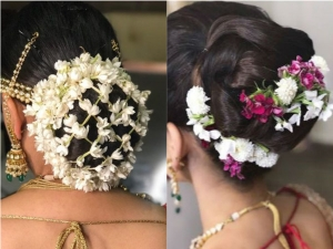 Top Trendy Floral Hairstyles Brides