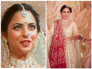 Isha Ambani Wedding Bridal Look