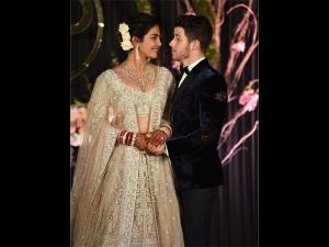 Priyanka Nick Dazzling Look At Delhi Reception