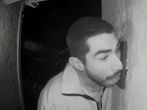 Video Alert Man Caught On Camera Licking Doorbell Three Hours