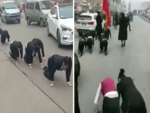 Employees Forced Crawl On Road Not Completing Targets