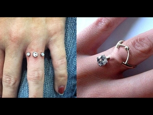 Diamond Finger Piercing Is Viral Trend