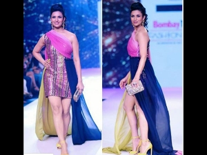 Tv Bahu Divyanka Tripathi Turns Diva On The Ramp In Mini One Shoulder Dress
