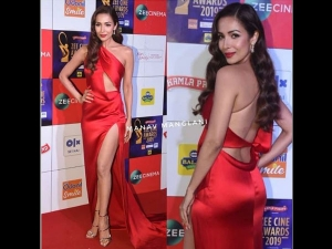 Zee Cine Awards 2019 Malaika Arora Stuns A Bold Red Dress On The Red Carpet