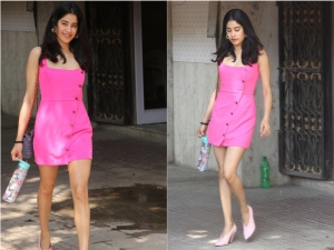 Janhvi Kapoor Hot Pink Dress Is Perfect For Summer Look