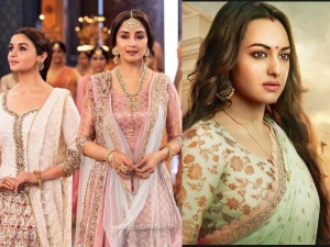 Manish Malhotra Design Costumes For Madhuri Dixit Sonakshi Alia Looks In Kalank