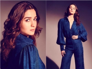 Alia Bhatt Makes Heads Turn In A Stunning Blue Jacquard Jumpsuit