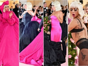 Lady Gaga Changes Four Dresses In Front Of Photographers At Met Gala 2019