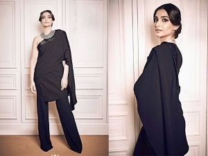 Sonam Kapoor Pulls Off Tuxedo Sari Like A Boss At Paris Fashion Week