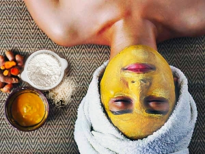 Turmeric Rice Flour Face Mask For Glowing And Acne Free Skin