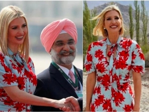 Ivanka Trump Repeats Floral Dress Worth Rs One Lakh In India Tour