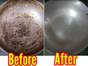 How To Clean Burnt Aluminium Pans Kadai