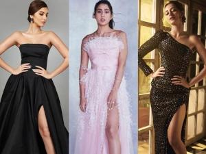 Slit Gown Fashion Tips Ananya Pandey Tara Sutaria And Sara Ali Khan Wear Trending