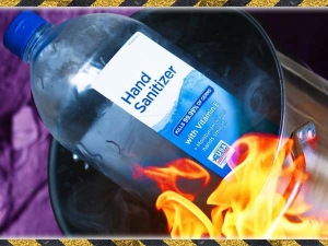 Can Sanitizer Catch Fire
