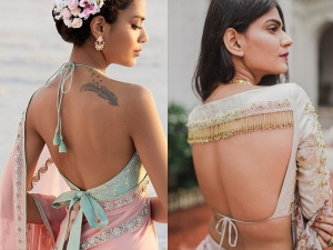 Try These Glamour Backless Blouse Design