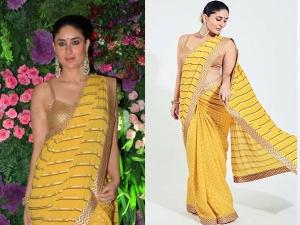 Kareena Kapoor Wear Low Price Yellow Saree