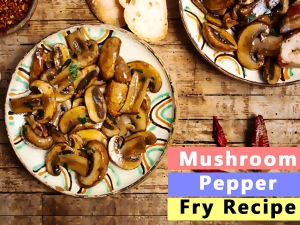 Mushroom Pepper Fry Recipe In Hindi