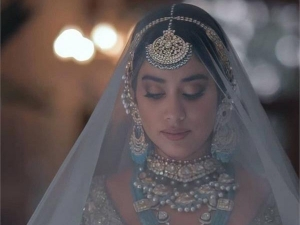 Janhvi Kapoor Is A Gorgeous Bride In Manish Malhotra Collection