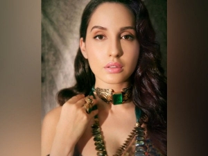 Nora Fatehi Ruling The Internet With Her Printed Silk Saree